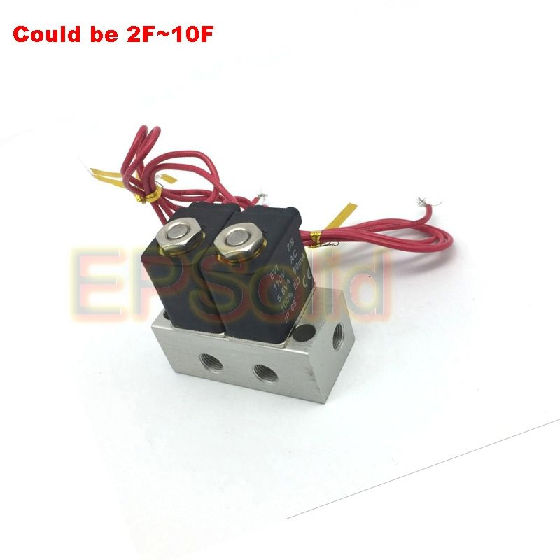 2V025-06-2F 2 Position 2 Way Neutral Air Selector Solenoid Valve Manifold Sets 2F~10F