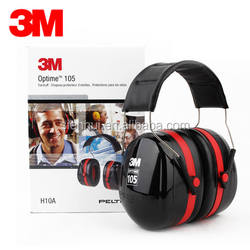 3M PELTOR Optime 105 Over-the-Head Earmuff H10A Soundproof Safety Earmuffs for Workers, Hearing Protection