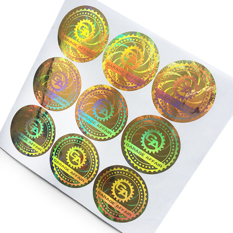3D hologram label,PET stickers factory direct supply rainbow color changing labels