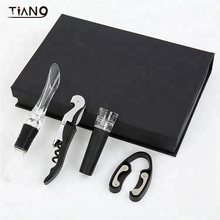 Gift Box Wine Accessories Set Promotion Wine Bottle Cork Opener Gift Kit Wine tools Set