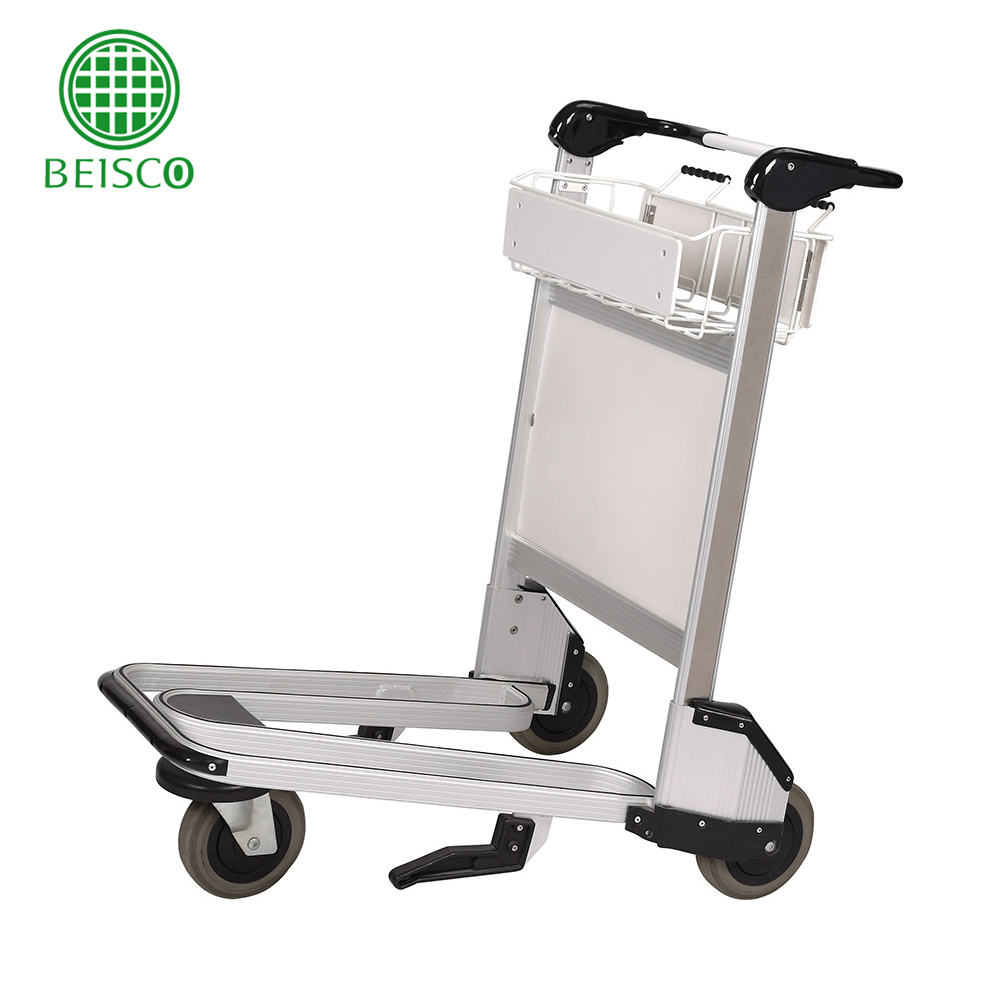 Airport Steel Canopy Baggage Cart for luggage transport