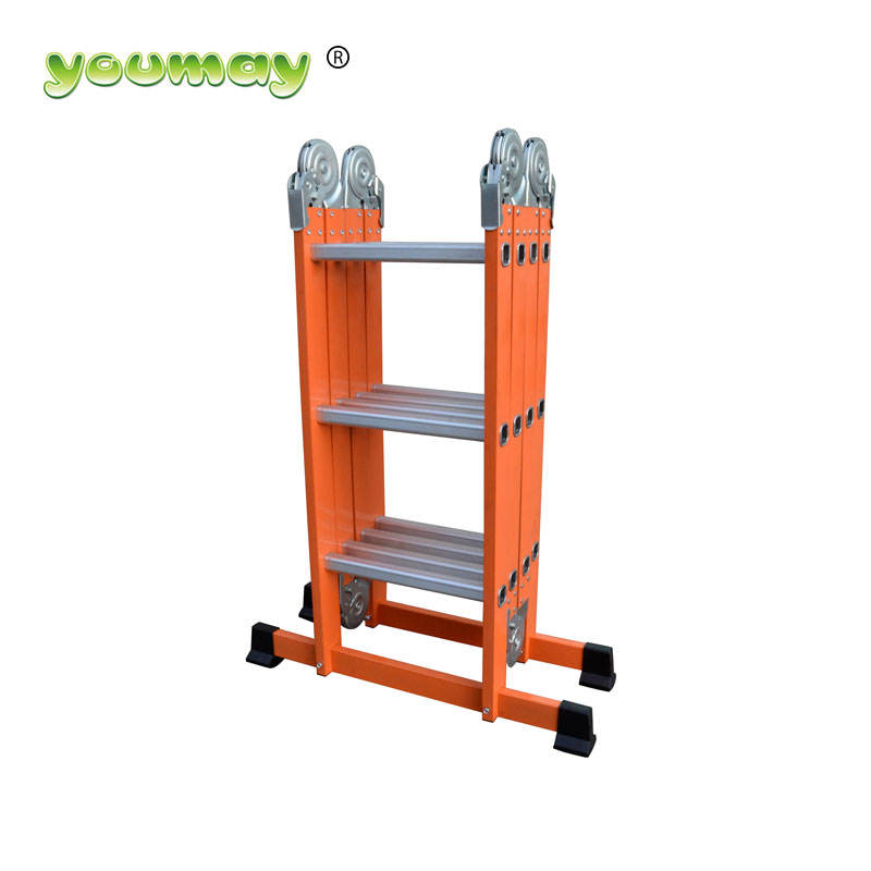 Aluminum & steel MULT-FUNCTION ladder AM0312S/multi-purpose ladder tree climber with powder color America market