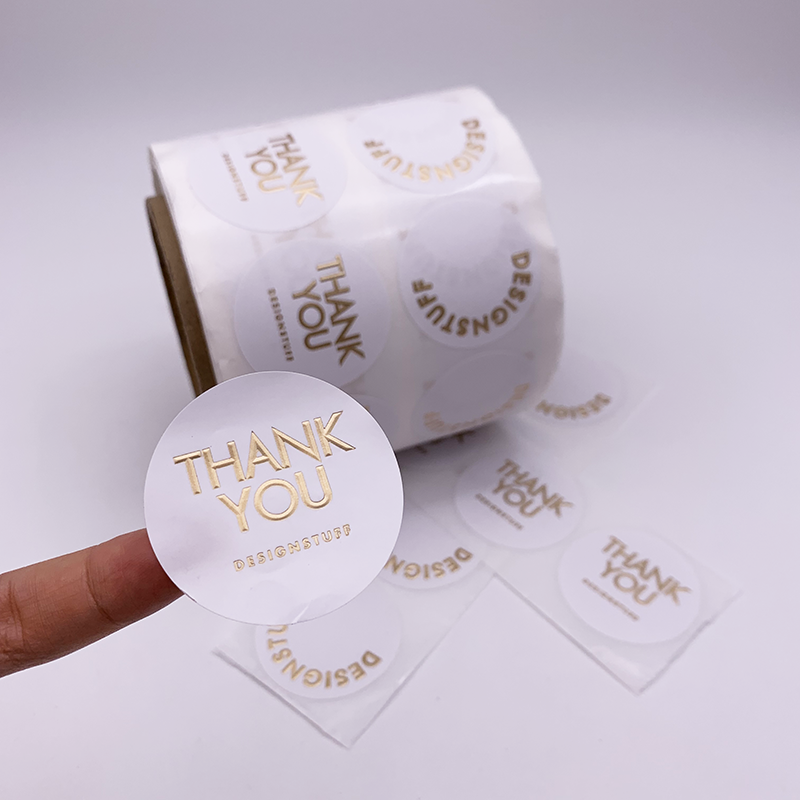 Cheap and Good Quality Waterproof Self Adhesive Thank You Label Sticker For Bottle Gifts Printing