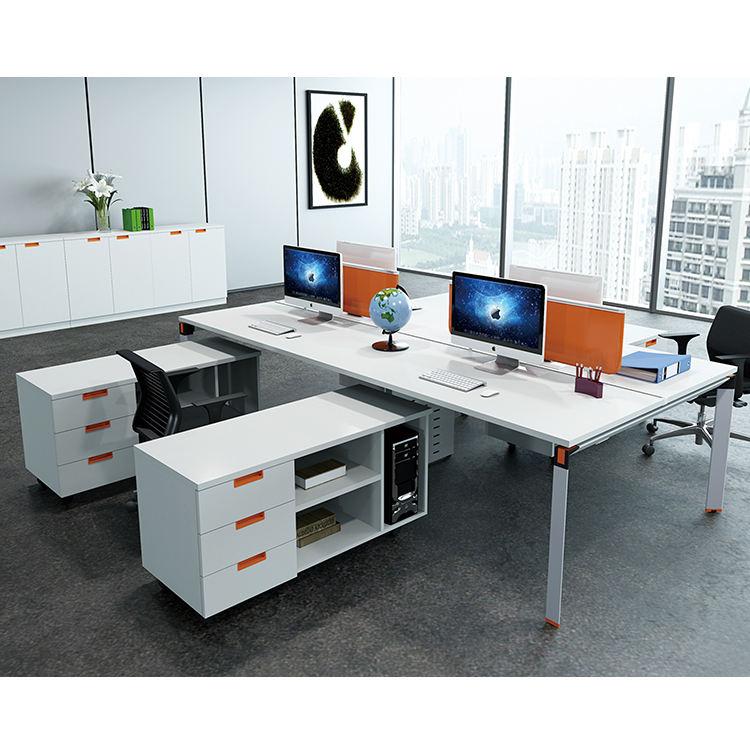 Schreibtisch, Aluminium schreibtisch, bürotisch mit seitenschrank