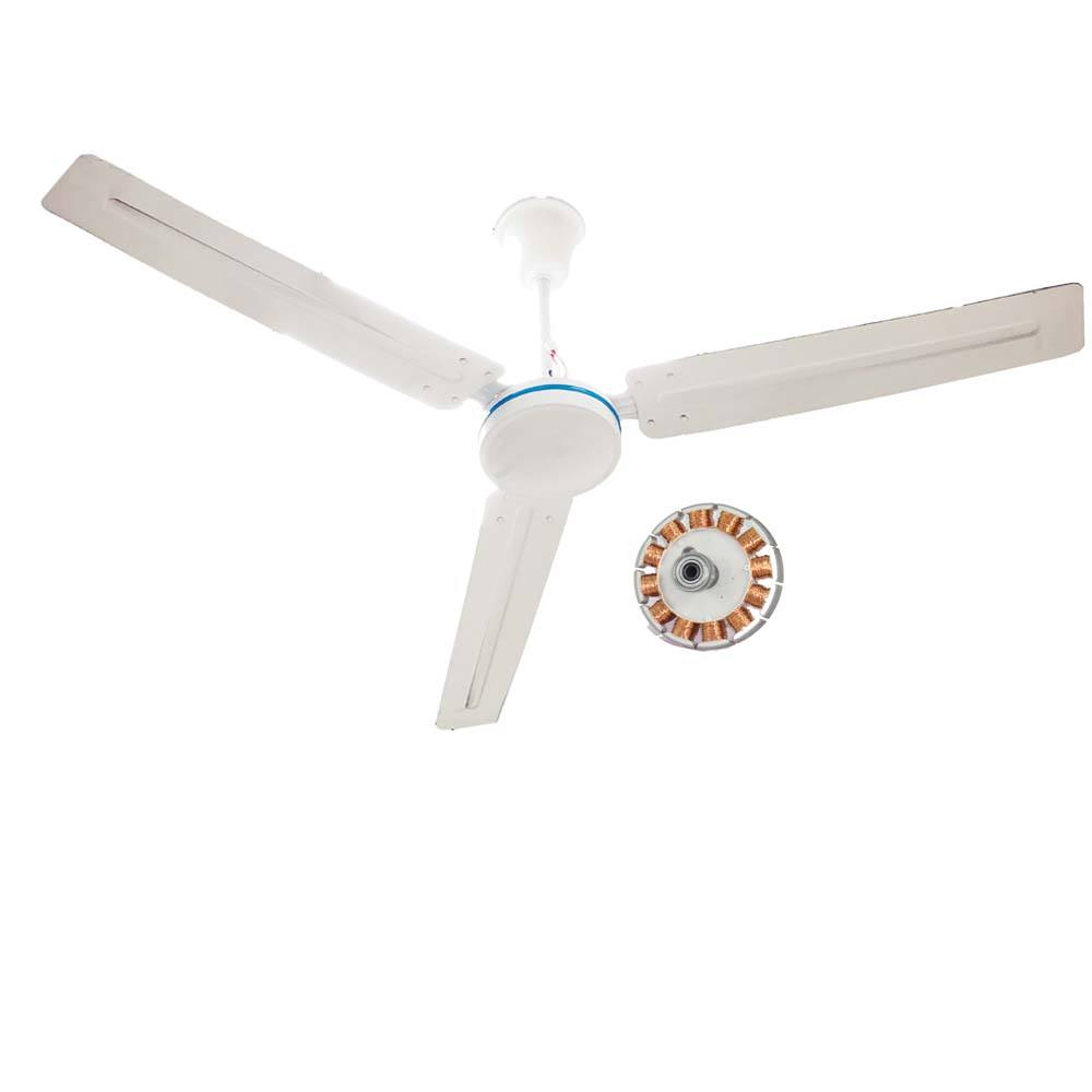 Professional BLDC 56 inch large industrial dc ceiling fans 12v for home with remote control