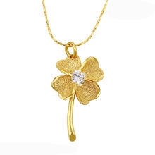 N65017005 xuping jewelry gold flower diamond necklace,  pendant necklace