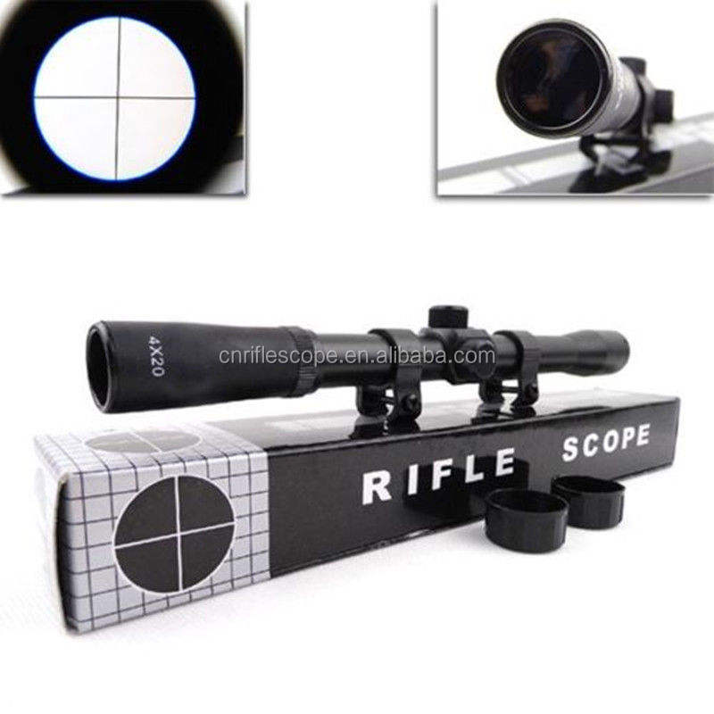 Escopo de rifle mira telescópica 4x20 para rifles bestas rifles airsoft air novo