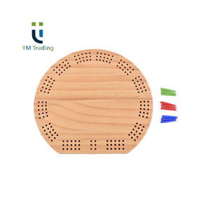 YUMING Nouvelle Conception Pin Bois Cribbage Jeu Match Chevilles En Plastique Ventilateurs Cribbage