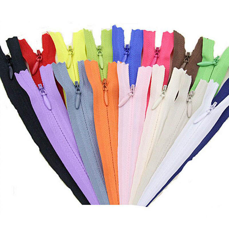 3# 20cm 28cm 40cm 45cm 50cm 60cm Long chain Invisible Zippers Nylon For Sewing Clothes