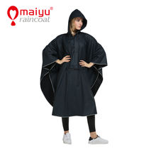 Knitted Pu raincoat ponchos for women waterproof rain poncho rain coat women