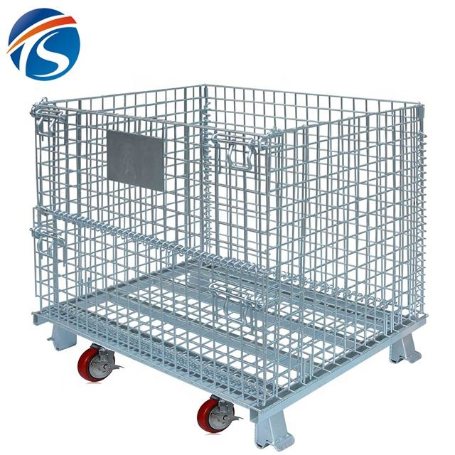 High quality wire mesh storage metal cage size crate