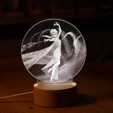 attractive led light crystal ball innovative fancy birthday gift