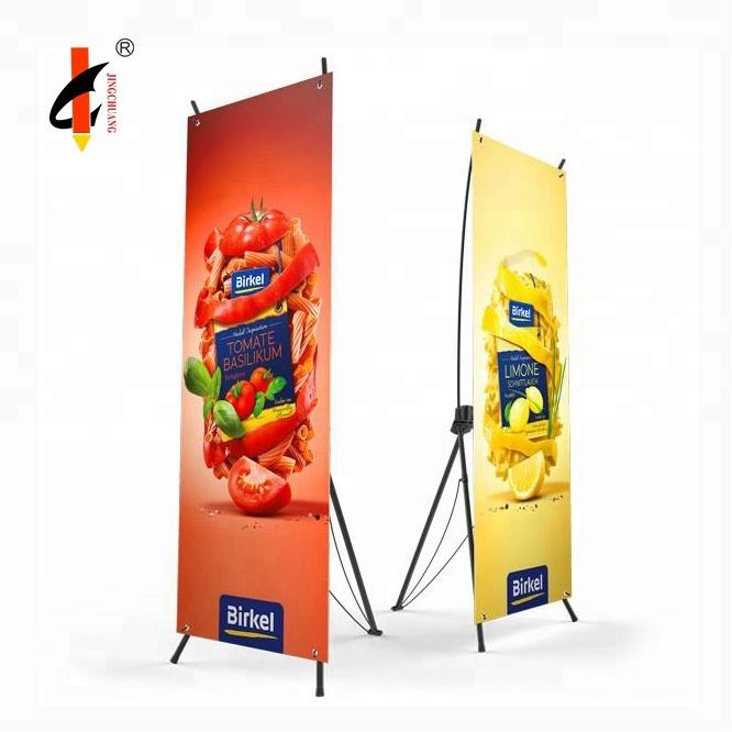 Decorative Advertising Display Board X Banner Stand