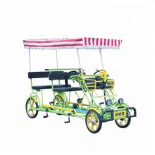 Factory outlet family set child seat sightseeing 4 wheels canopy tour Quadricycle 4 person Surrey bike