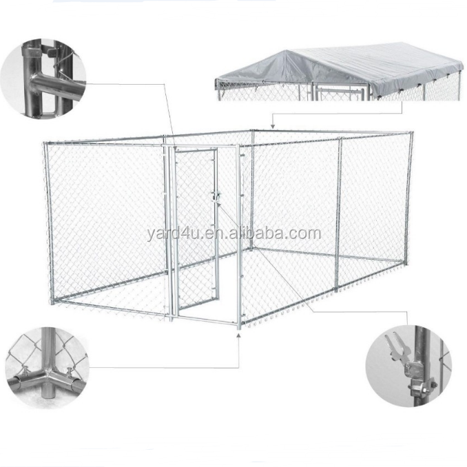 hot sale dog kennel roof kit cover 4mx4m outdoor dog houe cage crate sun shelter shade large poultry shed dog cage
