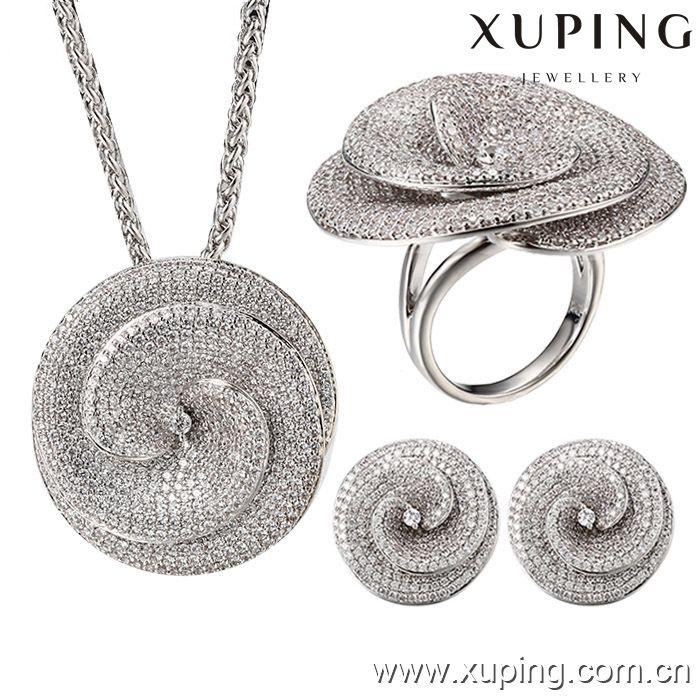 62862 Xuping роскошные индийские whiute золотые украшения, Африканский роскошный наборы для свадьбы, Нигерия ювелирные наборы
