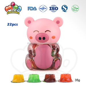Diverse Sweets Candy Jelly In Dier Varken Jar