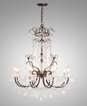 C3183-8 French Country Chandeliers Iron Light Lampadario Legno
