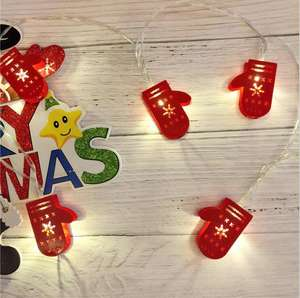 DIY Wholesale Romantic Led Festival Christmas Ornaments Cartoon String Light For Wedding birthday Holiday home Party