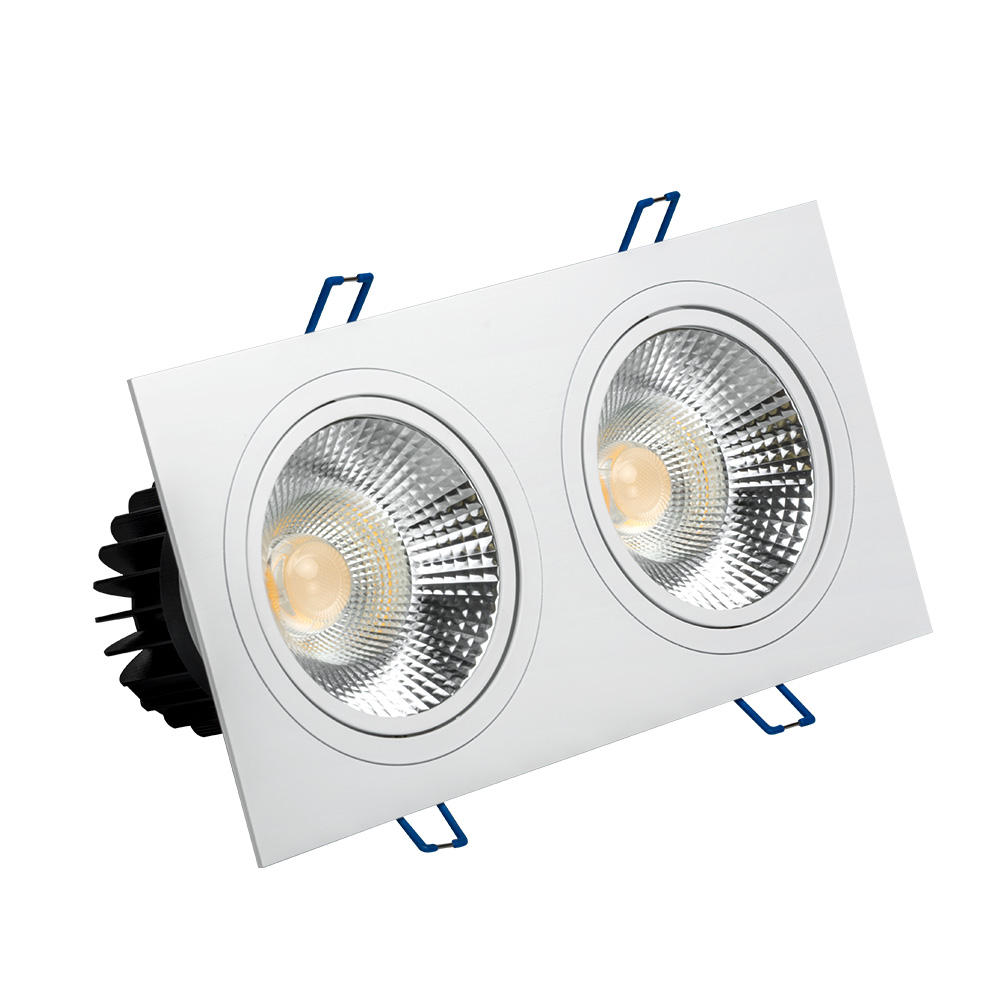 GOSUN 스퀘어 (times square) 디 밍 20 w 두 번 head factory price led recessed downlights