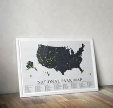US National Parks Map American National Park Print Outdoors print Explorer Wall Print