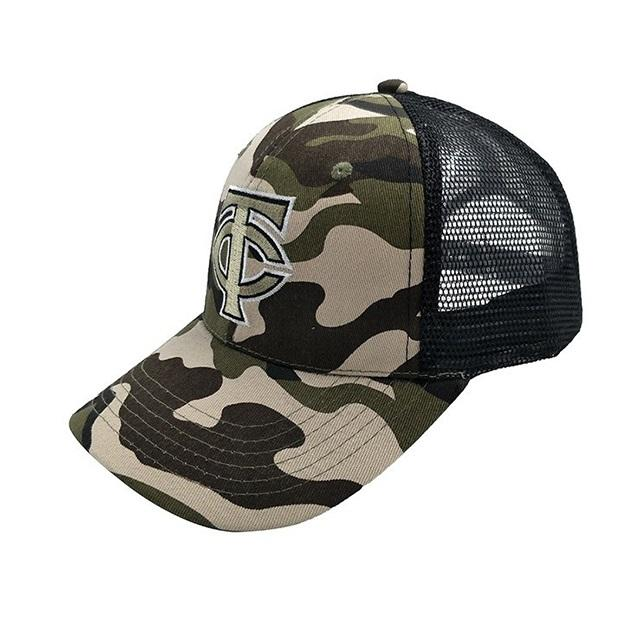 Small MOQ 6 Panel Embroidered Camo Trucker Cap Top Quality