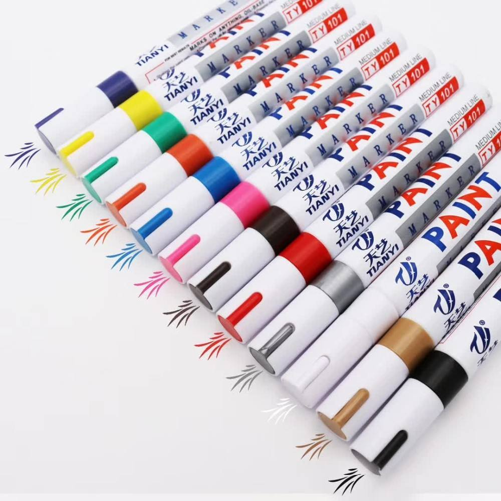 Fine Paint Oil Based Art Marker Pen Oil-Based Paint Marker Boxed for Metal Rubber Glass Waterproof 12 Colors