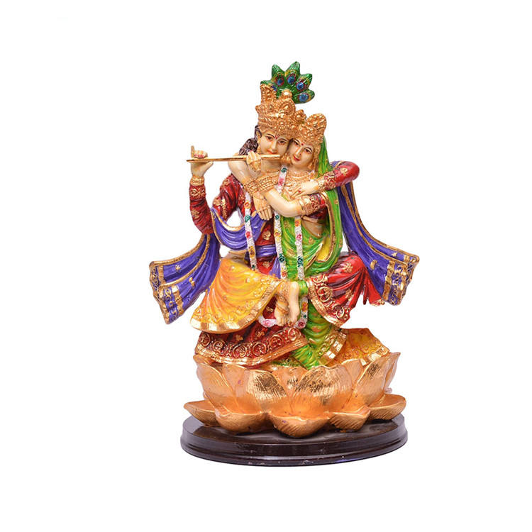 Hot Sale Personalized Handmade Polyresin Lord Radha Krishna Idol