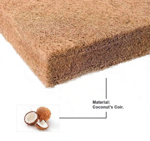 Middle firm hotel eco-friendly healthy protect back rubberized coconut coir mattresses
