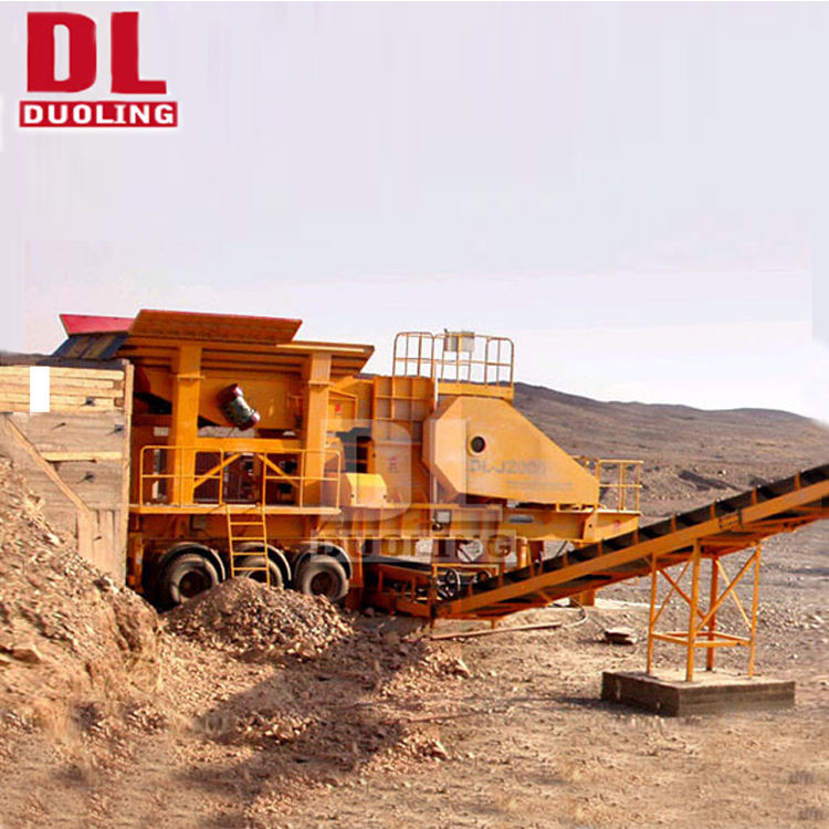 Mobile Stone Crushing and Screening Plant Jaw Crusher Cone Crusher Impact Crusher VSI Machine