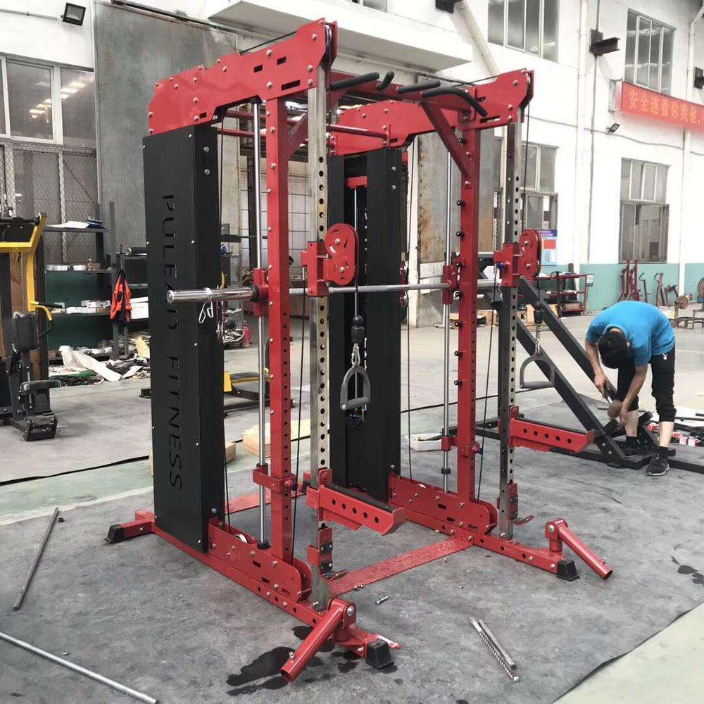 Attrezzature Per Il Fitness commerciale smith potere squat rack con crossover palestra per il fitness