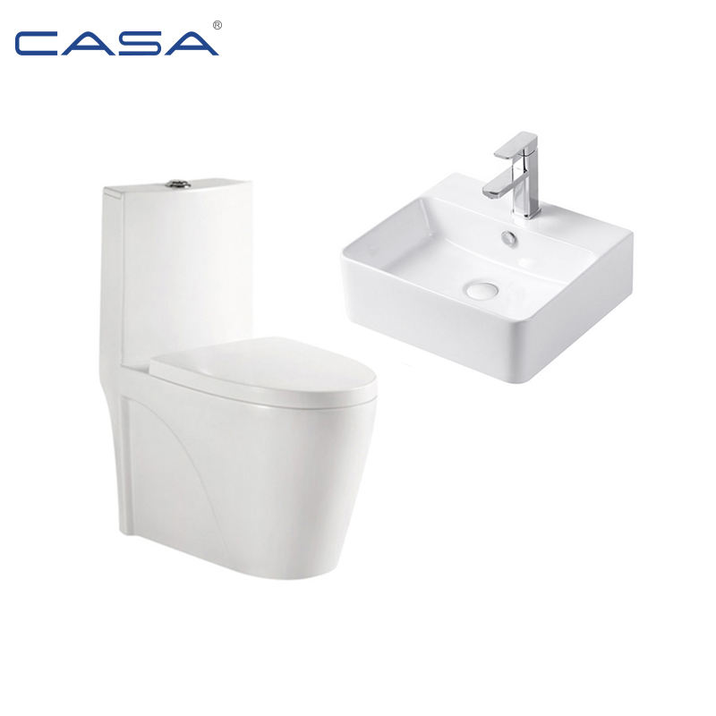 Chinese Siphonic Ceramic One Piece Public Bathroom Girl Wc Modern Toilet