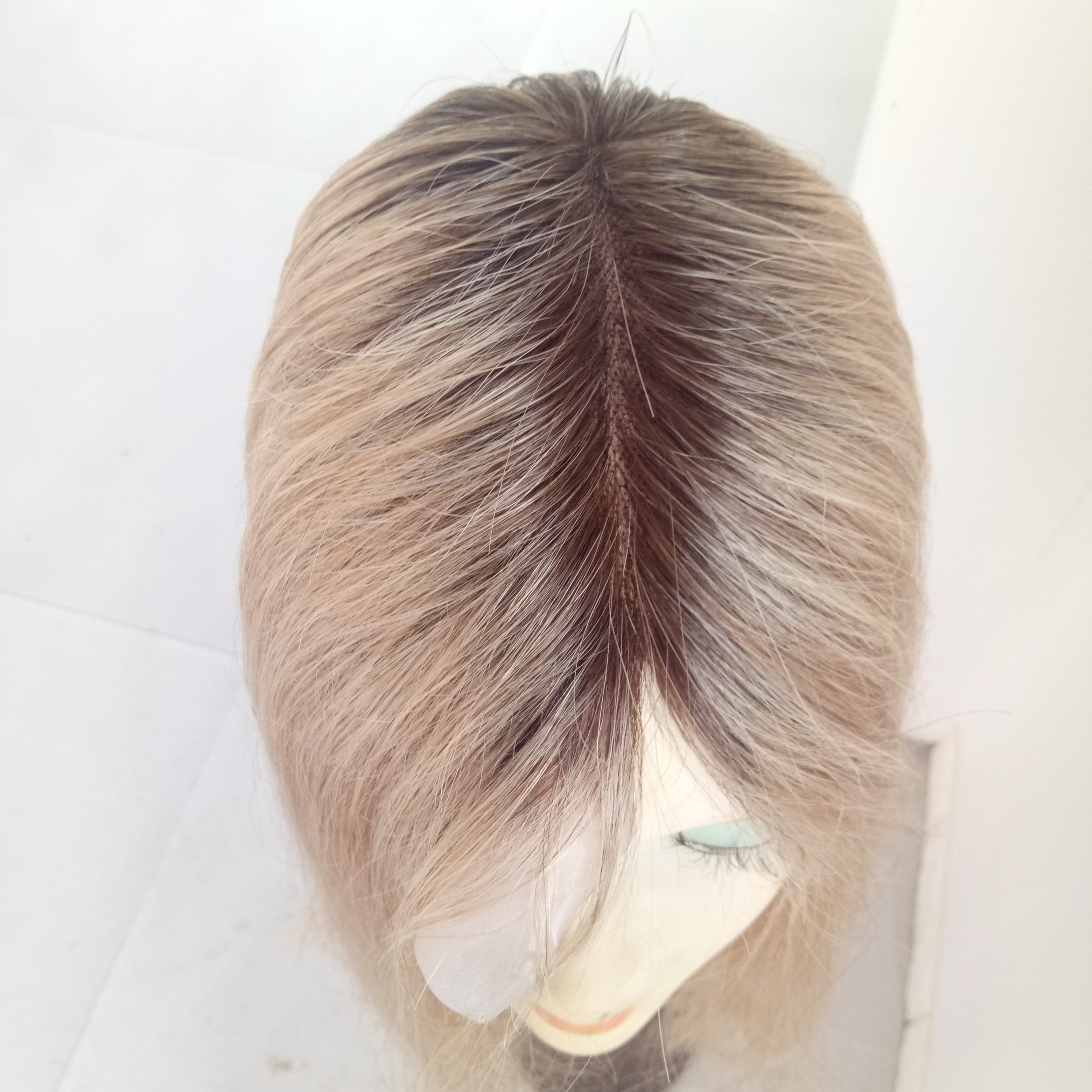 Qingdao remy human hair toupee/topper for women with long hair human hair toupee