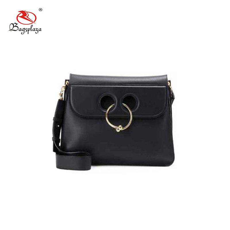 2017 Lovely design Mickey Mouse bag black PU leather shoulder bag