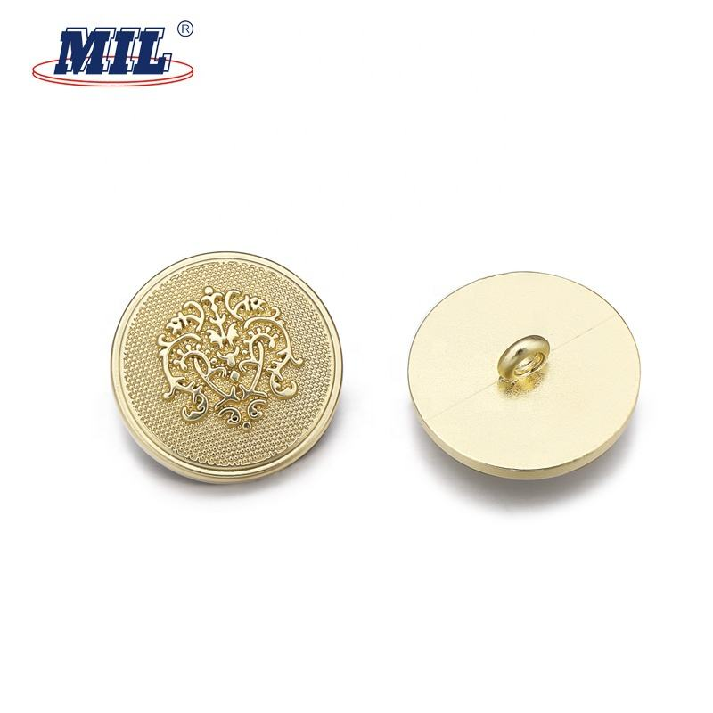 Custom made zinc alloy large gold metal buttons for military clothing