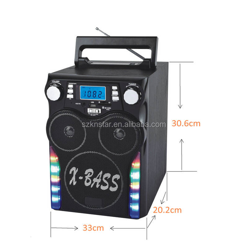 Rechargeable Outdoor Solar Powered USB MP3 player with FM radio/BT wireless