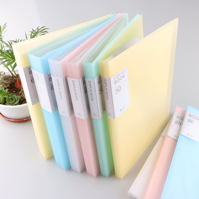 CHINA factory A4 10 20 40 60 80 100 pockets clear plastic display book for sale