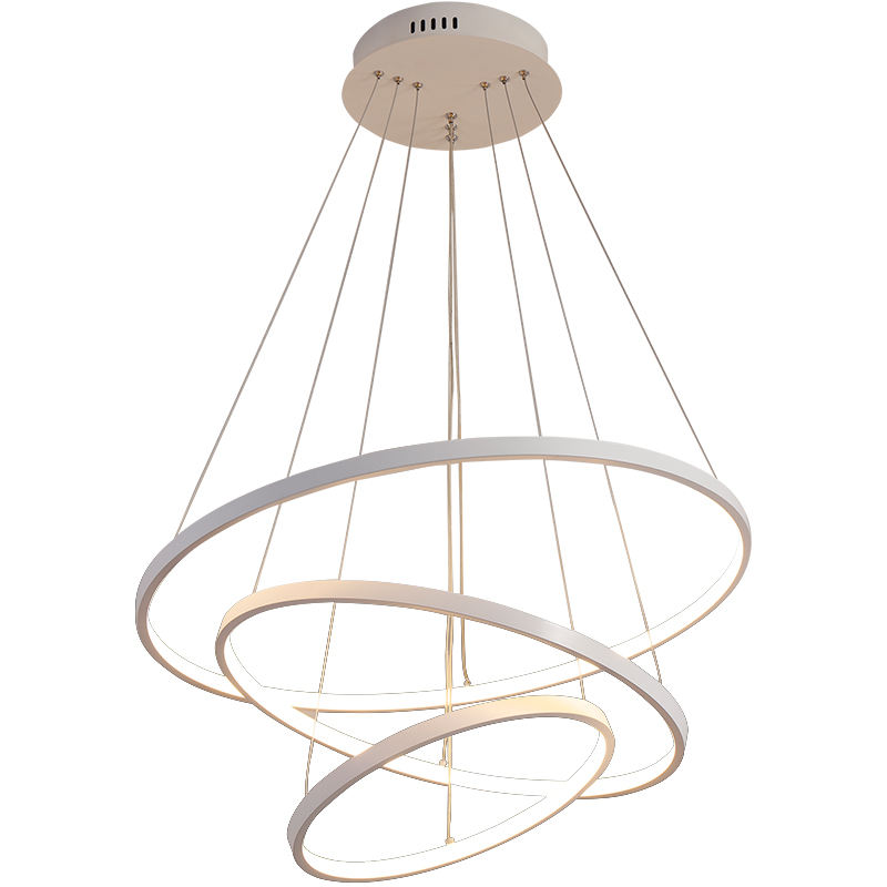 Simple modern 3 rings LED pendant light for living room
