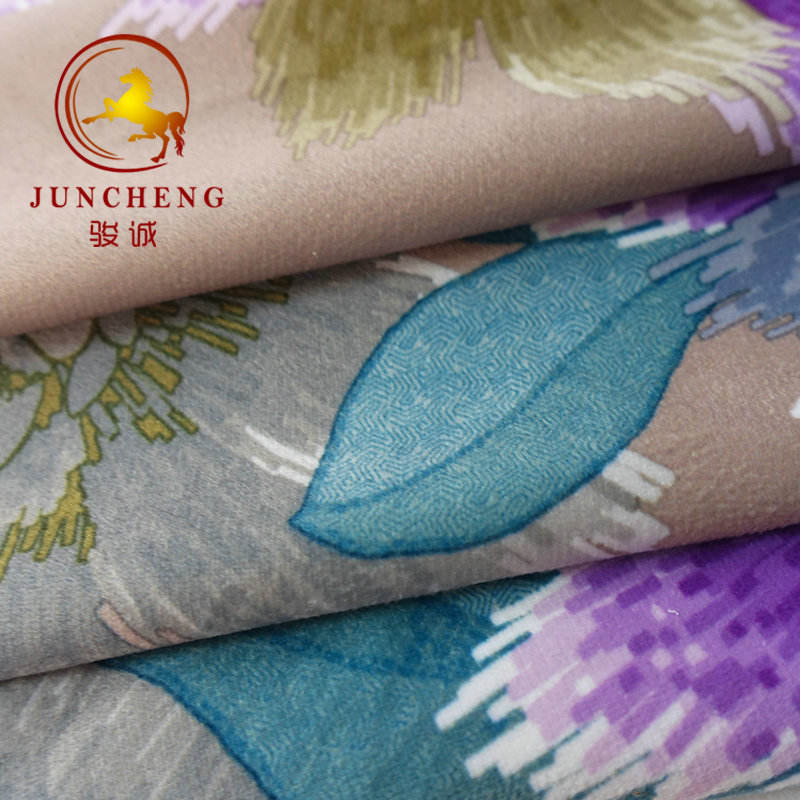 100% polyester hot sale super soft digital printing crystal velour for garment