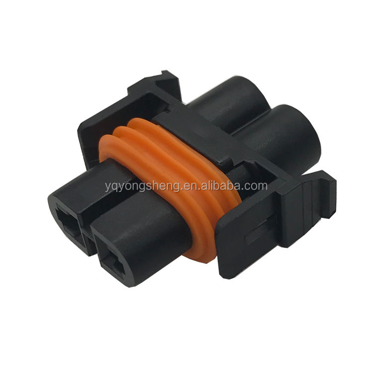 12184819 2 pin elektrische plug 2 flat pin plug tyco waterdichte draad connector 2 pin H8 H9 H11 9005 9006 lamp connector