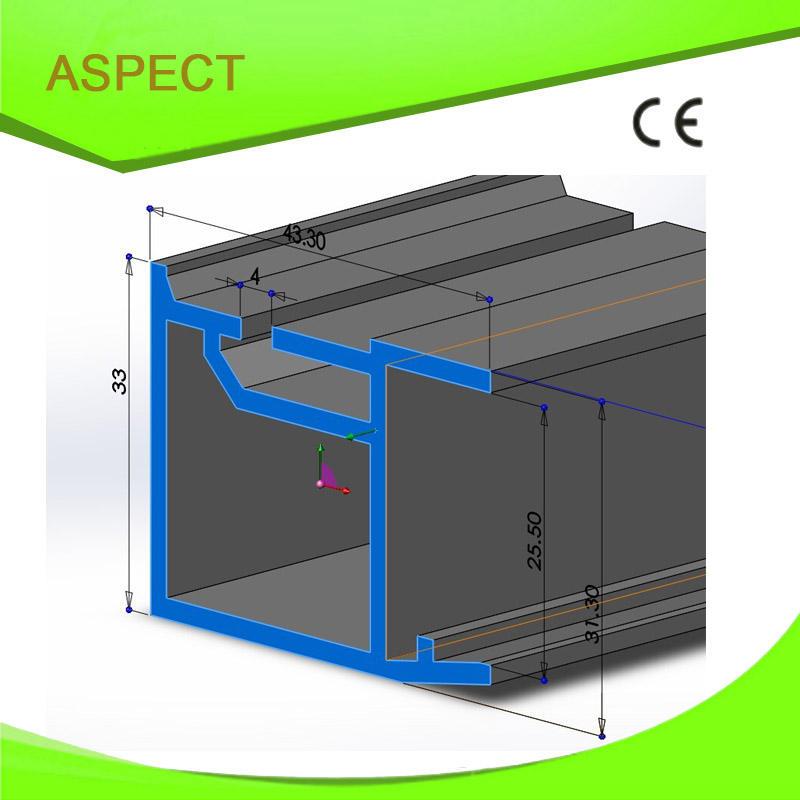 ПВХ профиль производственной линии/ПВХ профиля прокладки для стеклянной двери frame