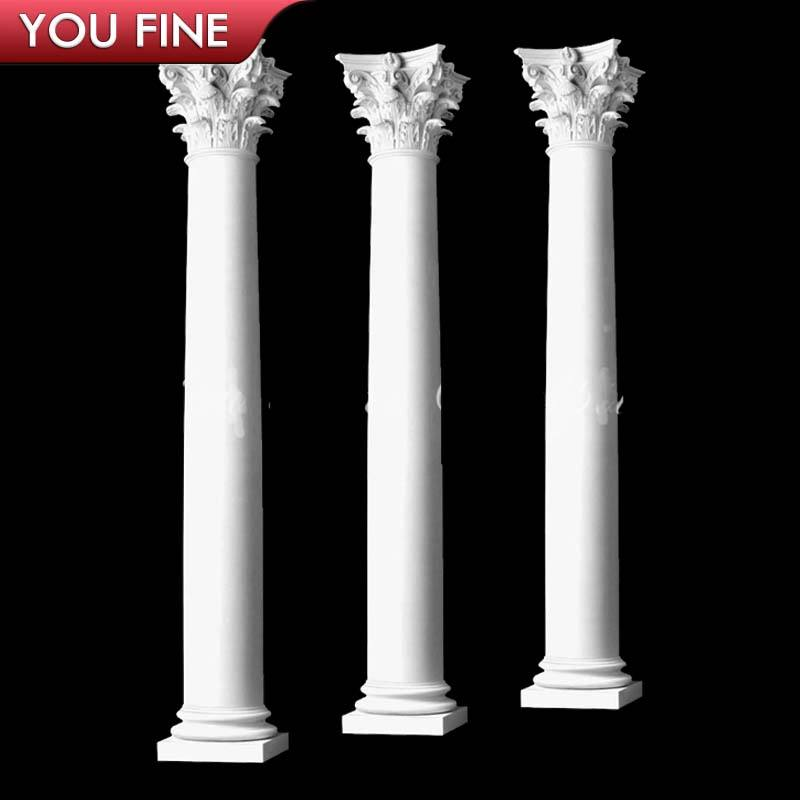 Hollow Marble Roman Decorative Wedding Columns