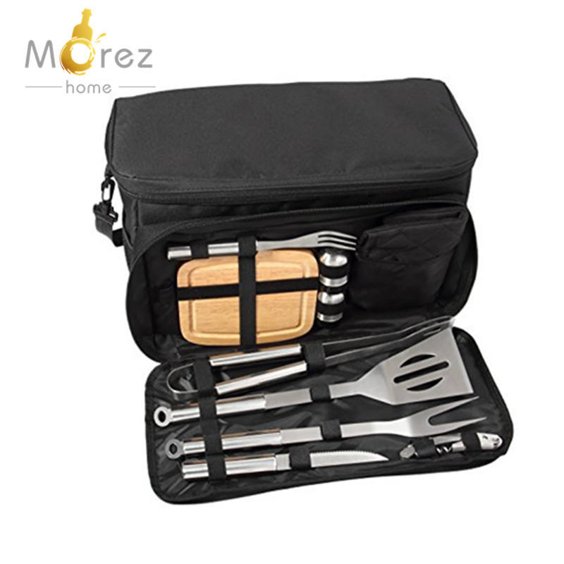 Morezhome hoge kwaliteit 20 Stks Rvs BBQ Grill Accessoires Tool Set voor Outdoor Trips