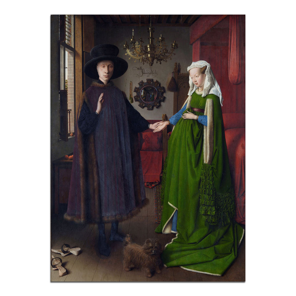 Jan van Eyck Classical masterpiece Arnolfini Portrait Wall Art Oil Painting Reproductions