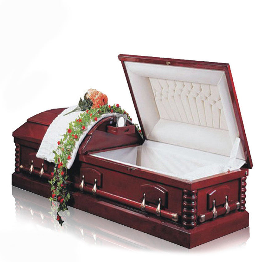 JS-A056 Funeral supply luxury casket lowering