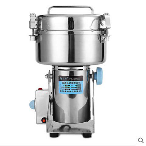 2000g stainless steel small flour mill mini size pulverizer high speed multifunctional mill