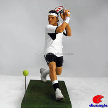 Tennis Figurines, Roger Federer Statue , Sports Figure Collectible Craft