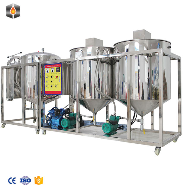 small scale edible mini cooking crude soya oil refinery plant