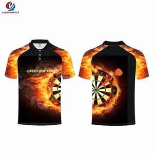 100% polyester lightweight custom super comfortable mens dart shirts