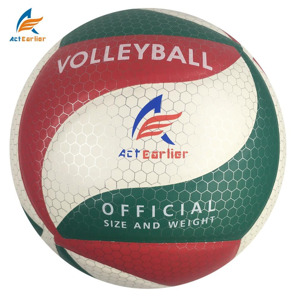 Actearlier leather ball official size 5 soft pu volleyball for club training or resale glued laminate volleyball